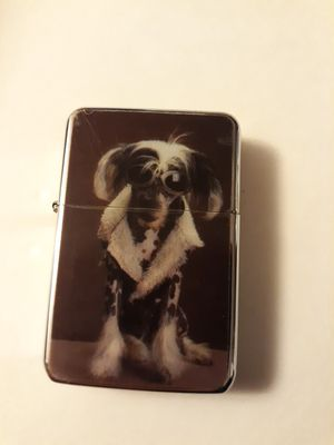 New cool blond bling dog design windproof oil lighter similar to zippo for Sale in Lancaster, OH