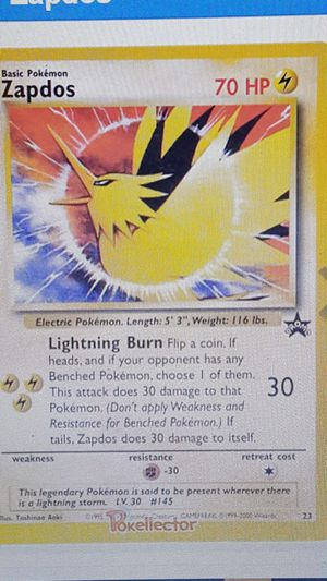 👣 Pokemon cards💥2 SEALED 💥WotC Black Star Promo 💥ZAPDOS #23💥 👣 for Sale in Falls Church, VA