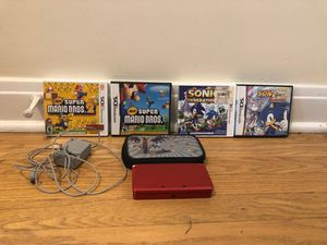 Nintendo 3DS Super Mario 3D land with games, case, and charger for Sale in Downers Grove, IL
