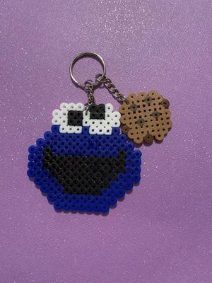 Cookie monster perler keychain for Sale in Riverside, CA