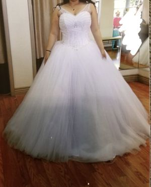White Quinceanera Dress for Sale in Clint, TX
