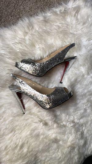 Christian Louboutin Glitter Sling Back Heels for Sale in Charlotte, NC