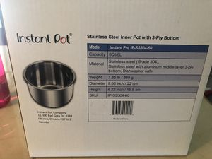 Instant Pot Brand replacement Stainless Steel Inner pot 5qt for Sale in Vancouver, WA