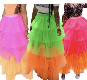 Neon Green/Orange Tulle Maxi Skirt for Sale in New York, NY
