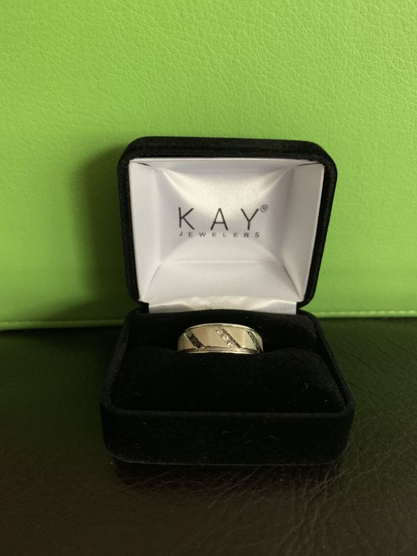 Kay Jewelers Men's Diamond Wedding Band Ring