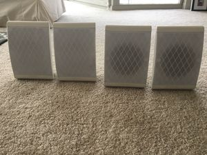Polk Audio Surround Sound Speakers (4) with speaker wire for Sale in Chicago, IL