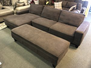 Sofa sectional with storage ottoman for Sale in Lexington, KY