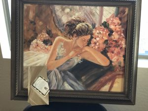 Oil Painting with gold frame with certificate for Sale in Scottsdale, AZ
