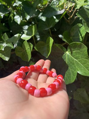 Red and pink bead bracelet for Sale in Oakland, CA