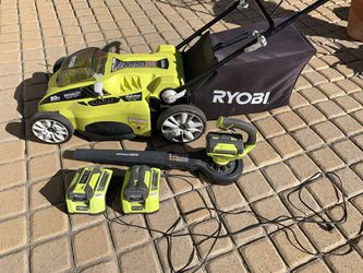 Ryobi 40V Mower And Blower for Sale in Los Angeles,  CA