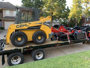 SALE PENDING - Skid Steer, Trailer and Attachments Package for Sale in Houston, TX
