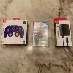 Nintendo Switch Bundle (wireless controller, ac adapter, Mario an sonic Olympics game) for Sale in Florissant, MO