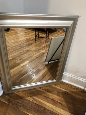 Heavy silver wall mirror for Sale in Freeport, NY