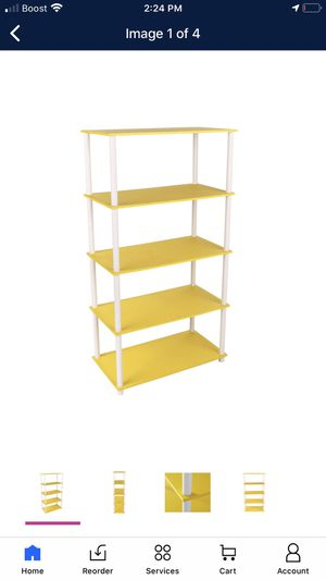 Two sets - Mainstays No Tools Assembly 8-Cube Shelving Storage Unit, Yellow and white color (New) for Sale in DeLand, FL