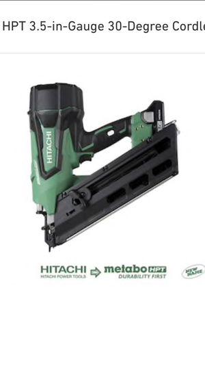 Metabo HPT 3.5-in-Gauge 30-Degree Cordless Framing Nailer Model # NR1890DCM for Sale in Mansfield, NJ