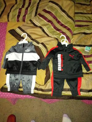 Puma Sweat Suits 0-3 months $20 a piece for Sale in Gaithersburg, MD