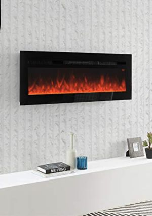 BRAND NEW 50 Inch Electric Fireplace Recessed Insert Wall Mounted Fireplace Heater with Remote Control for Sale in Pembroke Pines, FL