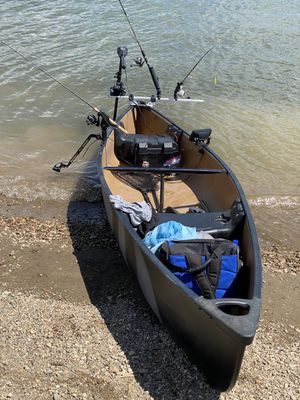 Great light and sturdy canoe. Only the canoe is for sale not the accessories. Custom paint job and I have a bill of sale if needed. for Sale in Westminster, CO