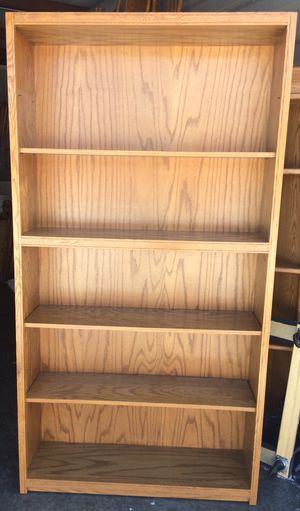 Classic 5 Tier Oak Bookcase for Sale in Rosemount, MN
