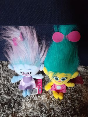 Trolls plush toys $8 take both for Sale in Fresno, CA