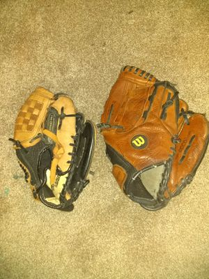 """2 Baseball Gloves 11"""" and 9.5"""" for Sale in Oklahoma City, OK"""