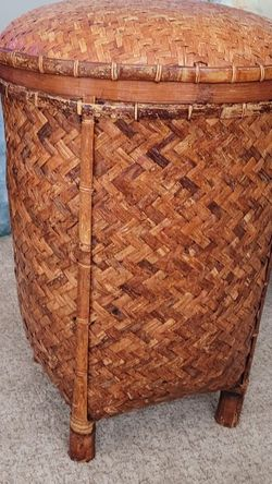Woven Rattan Basket with Lid for Sale in Portland,  OR