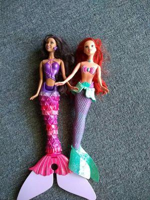Two mermaid Barbie dolls for Sale in Germantown, MD