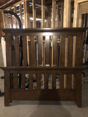 Queen Bed Frame and matching nightstand for Sale in White, GA