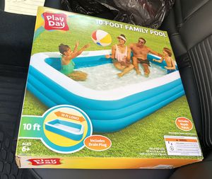 Play Day 10 Foot Family Swimming Pool BRAND NEW IN BOX for Sale in Bloomfield, NJ