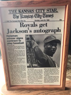 Royals get Jackson autograph plat for Sale in Cleveland, OH