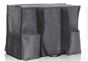 Brand new Zip-Top Organizing Utility Tote - Charcoal Crosshatch Thirty One bag for Sale in St. Cloud, FL