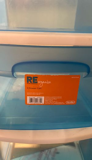 3 drawer plastic for Sale in Los Angeles, CA
