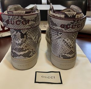 Gucci Snakeskin Leather Hi-Top Sneakers. Men's Size Gucci 13.5/USA 14 for Sale in Milwaukee, WI