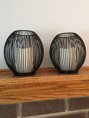 2 black candles with batteries for Sale in Lisle, IL