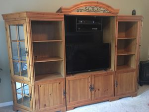 Curio corner cabinet, tv stand , book shelves for Sale in Woodbury, NJ