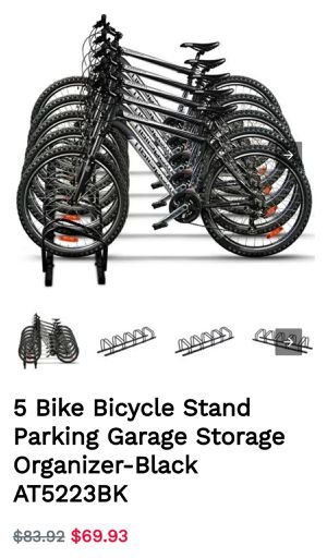 5 Bike Bicycle Stand Parking Garage Storage Organizer-Black BRAND NEW! for Sale in Alta Loma, CA