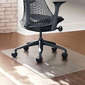 """CHAIRLIN All Day Use 2.0mm Thick Rectangular PVC Clear Chair Mat Heavy Duty Multitask Office Home Floor Protector Mat for Hard Floor 47"""" x 35"""" for Sale in Austin, TX"""