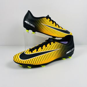 Nike Mercurial Vortex III FG Soccer Cleats Yellow Black 831969-801 Mens Size 12 for Sale in Helena, MT