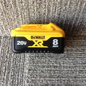 Dewalt 20 V 8.0 battery for Sale in Columbus, OH