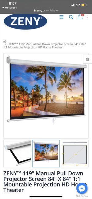 Projector Screen for Sale in Laguna Niguel, CA