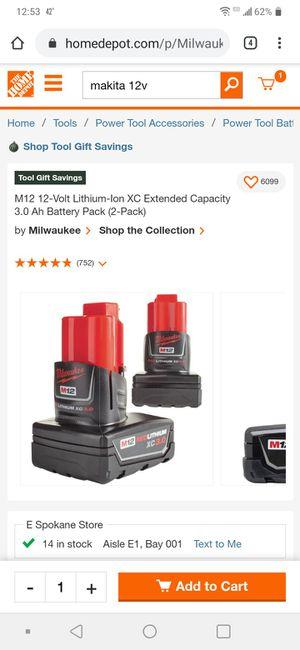 ONE 12v 3.0 XC battery for Sale in Spokane, WA