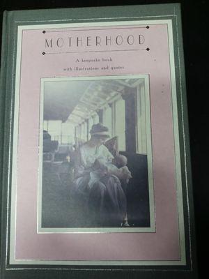 Motherhood keepsake book. for Sale in Tacoma, WA