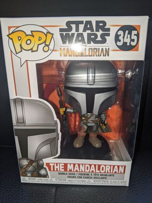 Funko Pop Star Wars THE MANDALORIAN #345 Full Beskar Armor Vinyl Figure Collectible Bobblehead Toy Doll for Sale in San Diego, CA