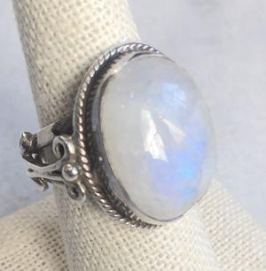 Moonstone Sterling Silver Ring Size: 8.25 for Sale in Villanova, PA