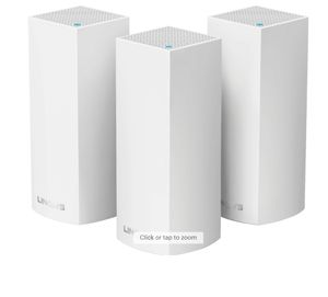 Linksys - Velop AC2200 Tri-Band Mesh Wi-Fi 5 System (3-pack) - White for Sale in Fairfax, VA