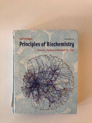 Principles of Biochemistry Sixth Edition (Nelson and Cox) for Sale in New York, NY