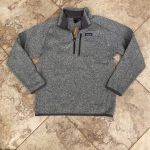 New with tags Men's Patagonia Better Sweater 1/4 Zip Fleece Sweater Jacket Gray Stonewash Medium for Sale in San Diego, CA