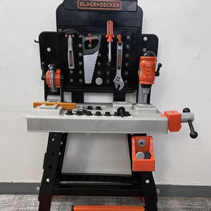 Black and Decker Junior Power Tool Workshop BLACK + DECKER Power Tool Workshop - Play Toy Workbench for Kids with Drill, Miter Saw for Sale in Miami, FL