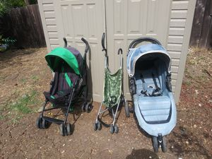 Strollers, carseats & newborn - 6 months clothes diapers etc. for Sale in Concord, CA