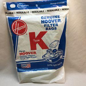 Hoover Type K Canister Vac Cleaner filter Bag Genuine Hoover filter bag for Sale in Port St. Lucie, FL